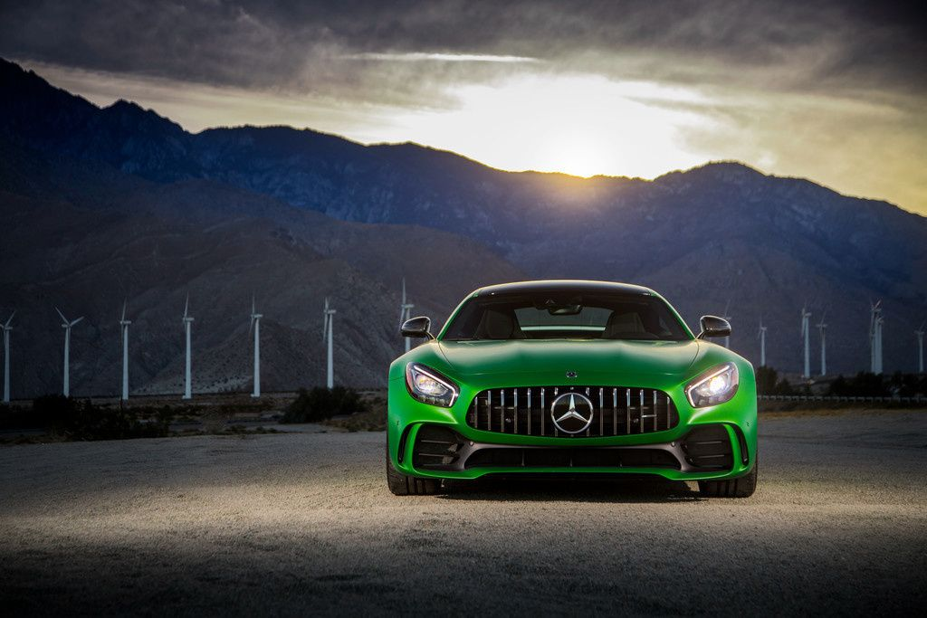 Gt Sport Wallpaper Iphone: Mercedes-AMG GT R, Green Sports Cars, 2018, Front, 4k