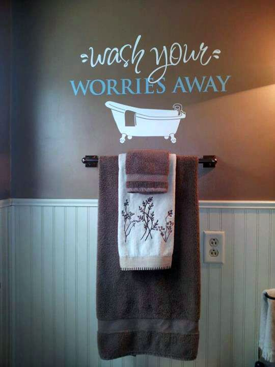 Ive Been Saying For A Few Years That I Want To Put White Bead - Custom vinyl wall decals sayings for bathroom