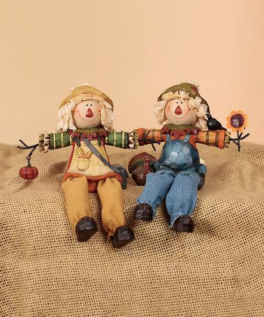 Take a look at this Scarecrow Shelf Sitter Set by Transpac Imports on #zulily today!