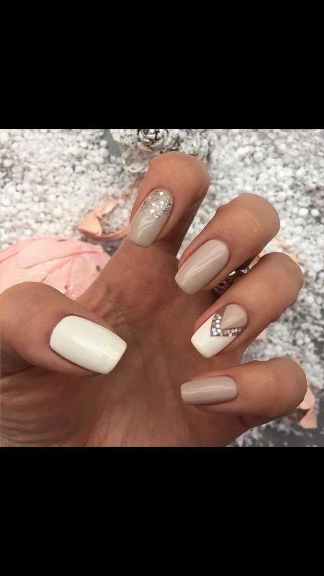 Nail Polish Design Nude Sparkledarker Thumb Though