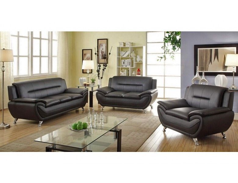 A little something about black leather sofas | Sofa | Living ...