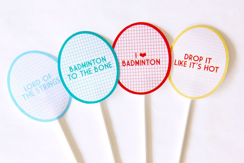 Badminton DIY Party Printable Kit, Party Toppers ...