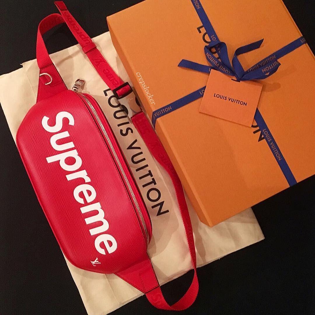 """062fd3c5 CREPSLOCKER™ on Instagram: """"N E W • A R R I V A L LOUIS VUITTON ❌ SUPREME  BUMBAG Remember we ship worldwide 🌍 using express shipping!"""