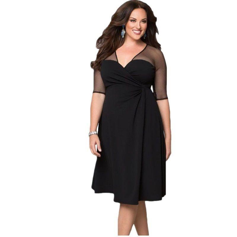 6bcfb732c9a1 Dámské plus size šaty Marcy - černé - Pošta Zdarma