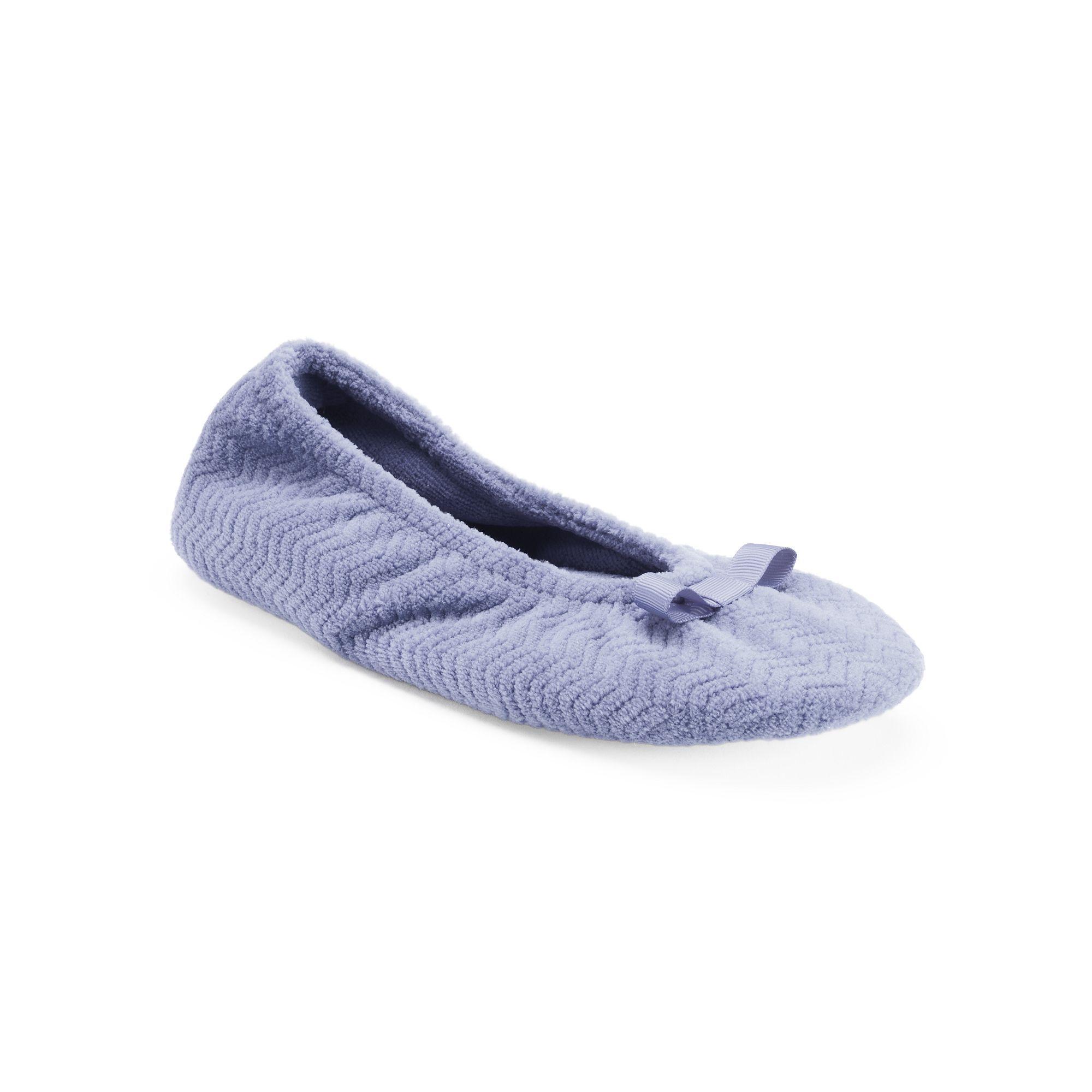 Isotoner Women's Chevron Ballet Slippers, Size: XL, Pink ...