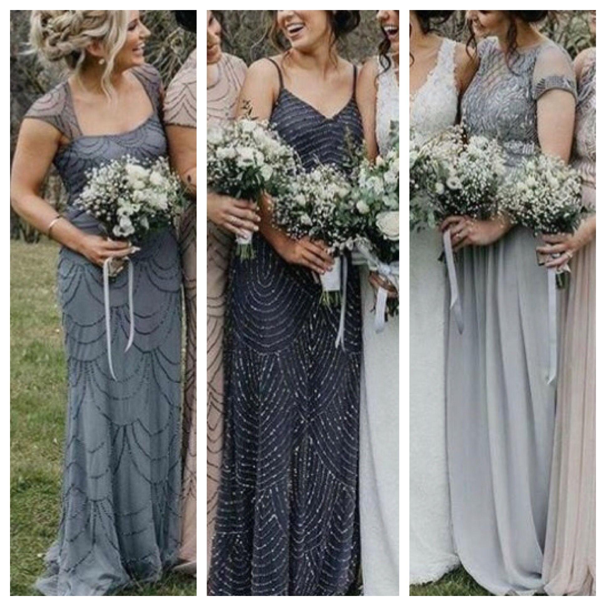 Silver Grey Navy Sparkle Bridesmaid Dresses Winter Wedding Mismatched Winter Bridesmaid Dresses Mismatched Grey Bridesmaid Dresses Grey Bridesmaid Dresses