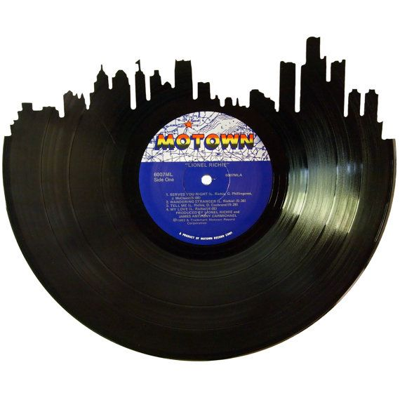 Detroit Skyline Vinyl Record Wall Art Unique Gift