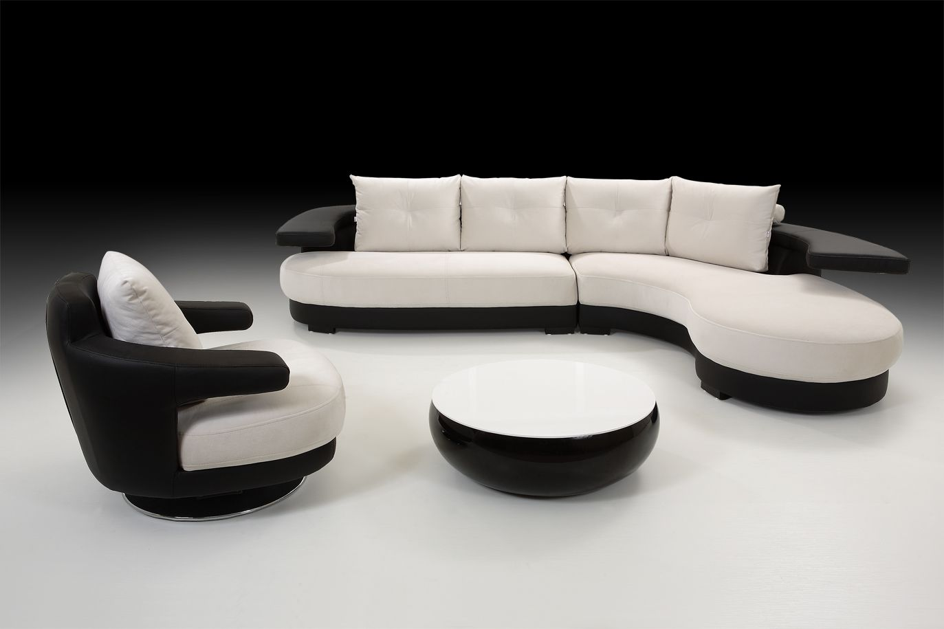 Best Black And White Furniture – Delightful Contrasts In The 400 x 300