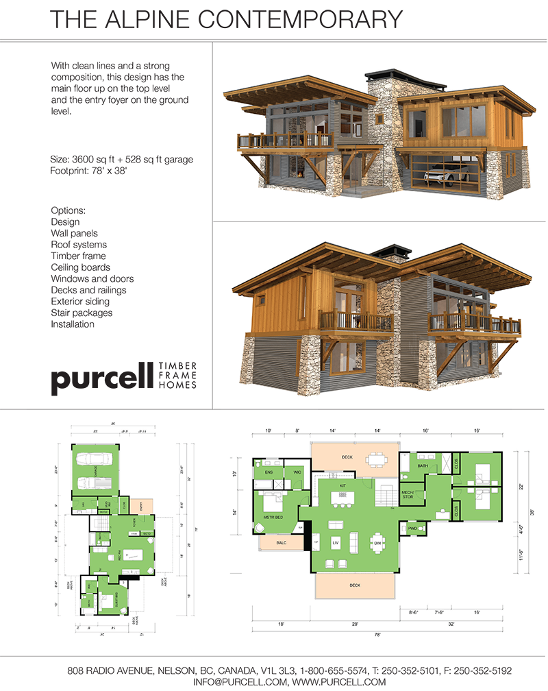 Purcell Timber Frames - Home Packages - The Alpine Contemporary ...