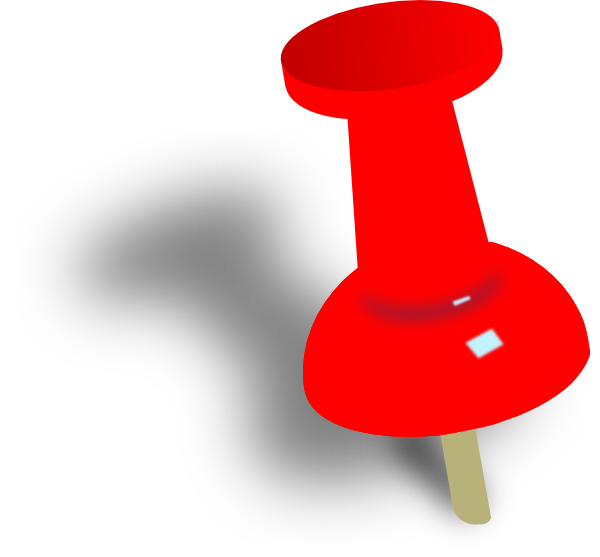 Download Stationery Office Thumbtack Realistic Set Of Red Glossy Push Pins For Fixing On Board Remind For Free Stationery Vector Free Thumbtack