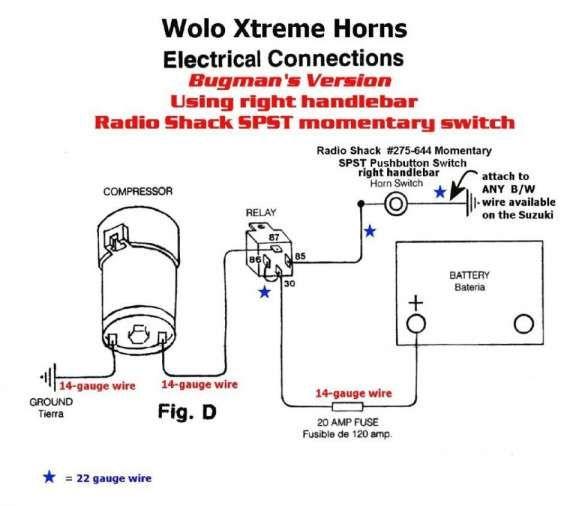18 car air horn wiring diagram  horns car horn wire