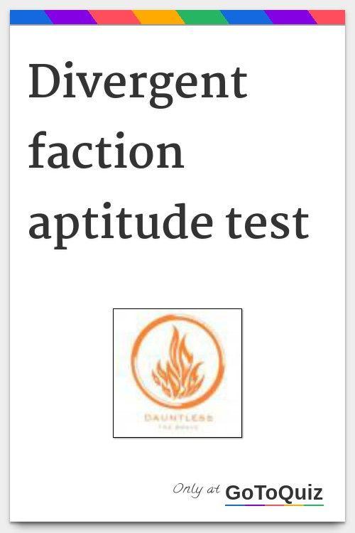Divergent faction aptitude test
