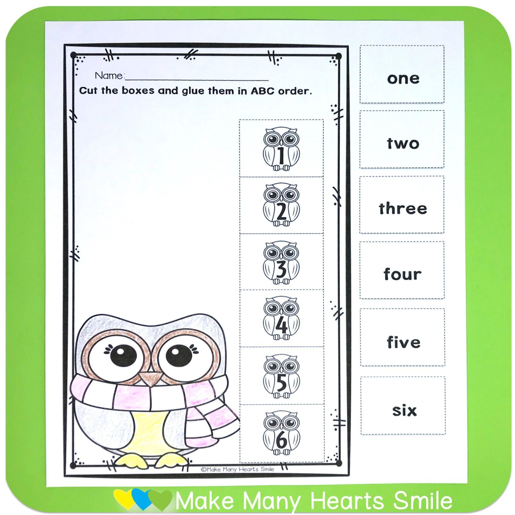 Editable Abc Order Owls Mmhs43