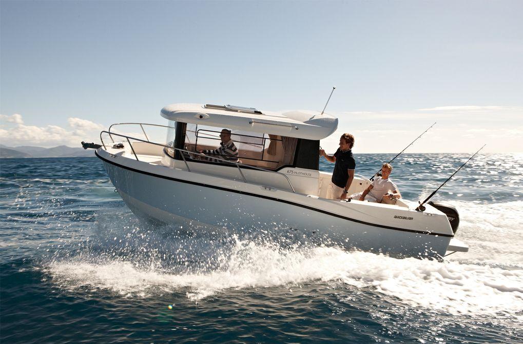 Quicksilver - Captur - Pilothouse 675 - #embarcaciones #fibra #lanchas #motoras #pescapaseo http://jaloque.com/