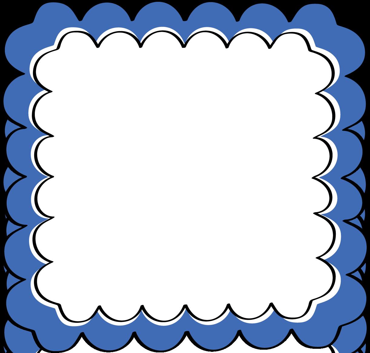 Blue Scalloped Frame | Backgrounds | Pinterest