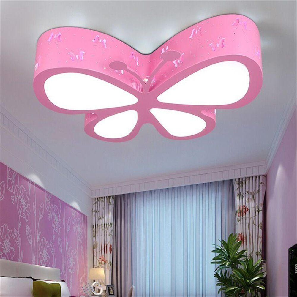 Deckenlampe Fur Das Madchenzimmer Schmetterling Rosa Beleuchtung Decke Schlafzimmer Lampe Led Schlafzimmerdecke