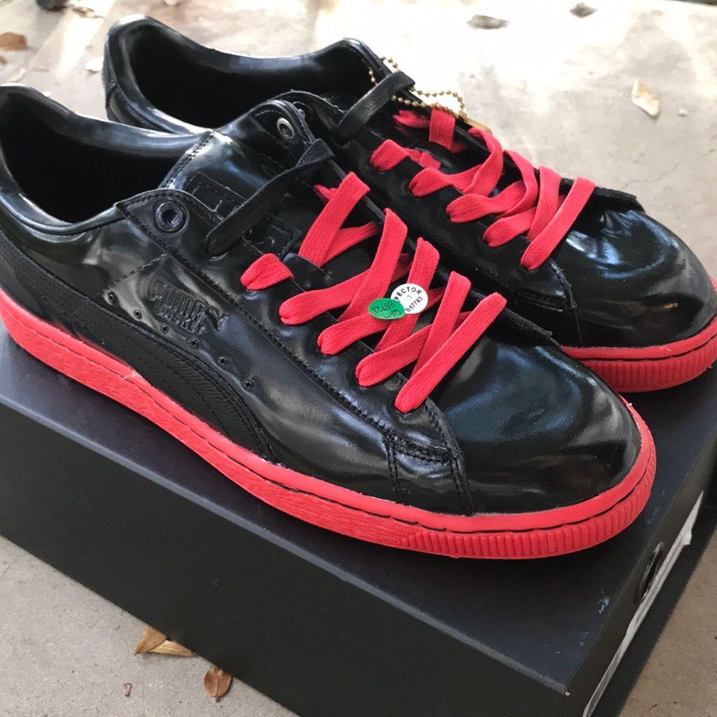 Puma Shoes | Sale Puma X Meek Mill Patent Basket (Blackred ...
