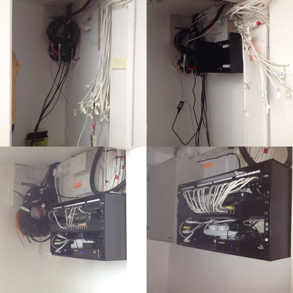 Starting With 50 Unknown Cat5ish Cables To A Complete Wireless Home Network Wiring Cabinet Ubiquiti And Cisco Networked All In Client Labelling Reference