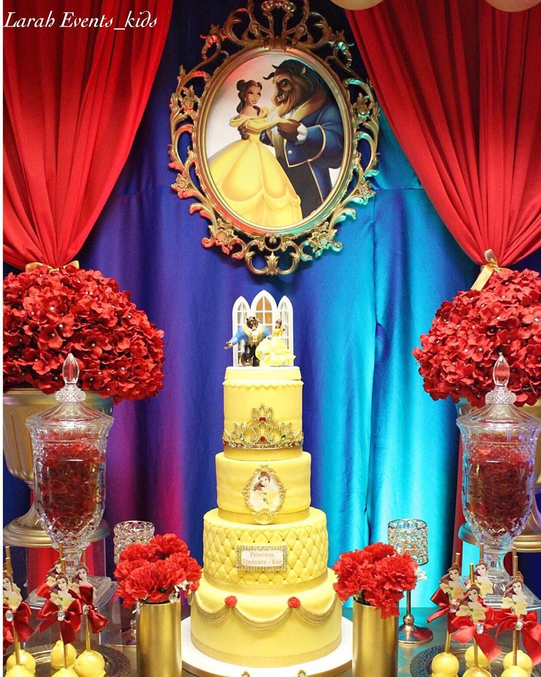 Beauty And The Beast Themed Birthday Party Setup We Did For