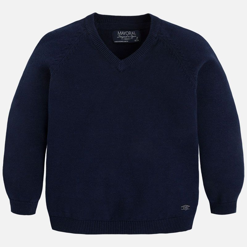 Mayoral Navy Basic Cotton Sweater