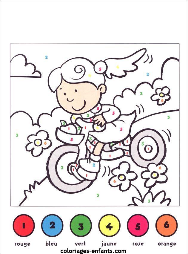 Coloriage par numéros Les jeux de coloriages-enfants.com ...