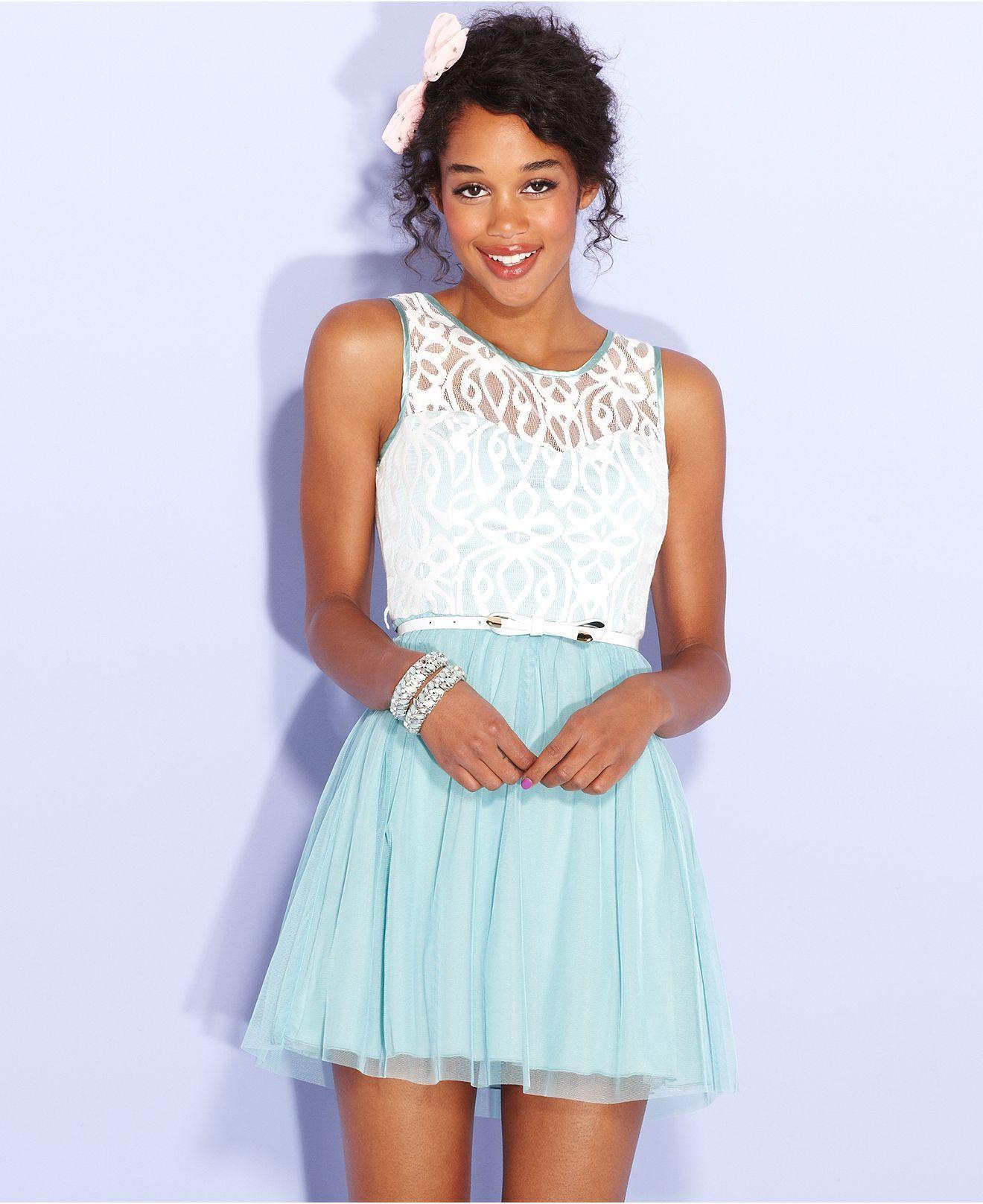 Alice cinderella bcx juniors dress sleeveless colorblock lace a