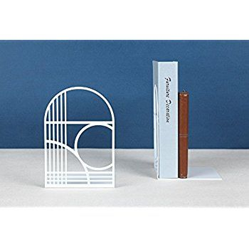 Unique Office Bookends   Modern Brand Design Metal Book Ends For Large And  Tall Books (