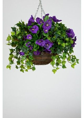 How To Make An Artificial Hanging Basket Plants For Hanging