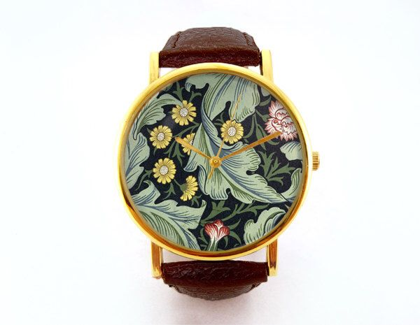 Antique Floral Wallpaper Watch, Vintage Floral Watch, Victorian Style, Vintage Wallpaper, Floral Pattern, Ladies Watch, Analog, Gift Idea by 10northcreative on Etsy https://www.etsy.com/listing/223891812/antique-floral-wallpaper-watch-vintage