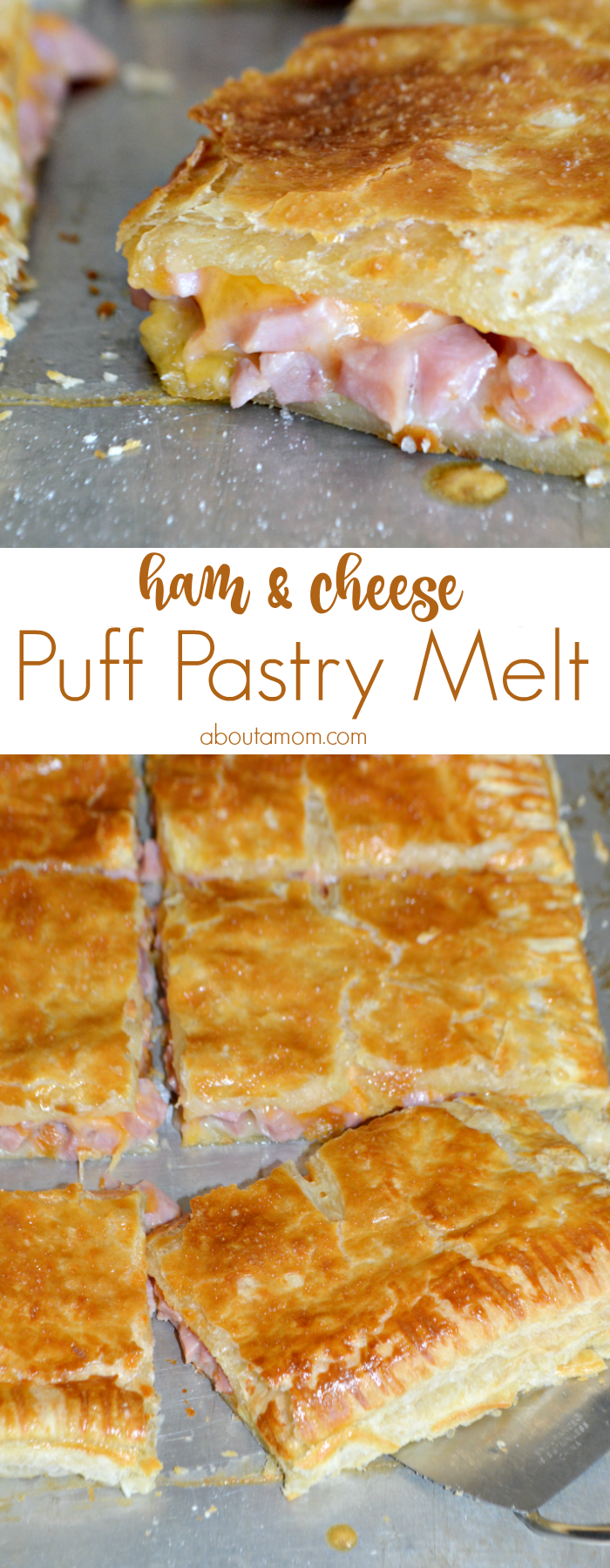 Ham and Cheese Puff Pastry Melt - About a Mom