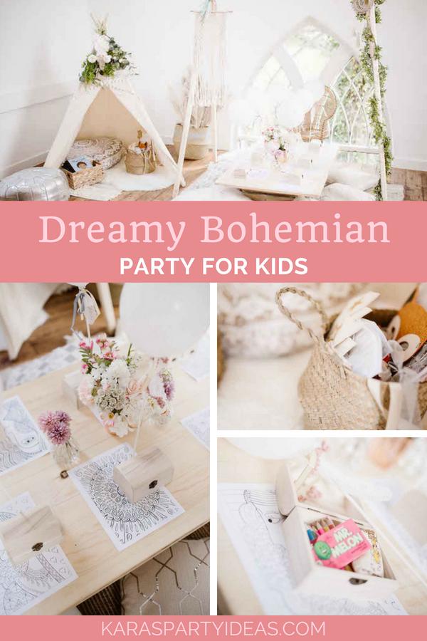 Dreamy Bohemian Party For Kids Bohemian Party Bohemian Party Decorations Boho Birthday Party