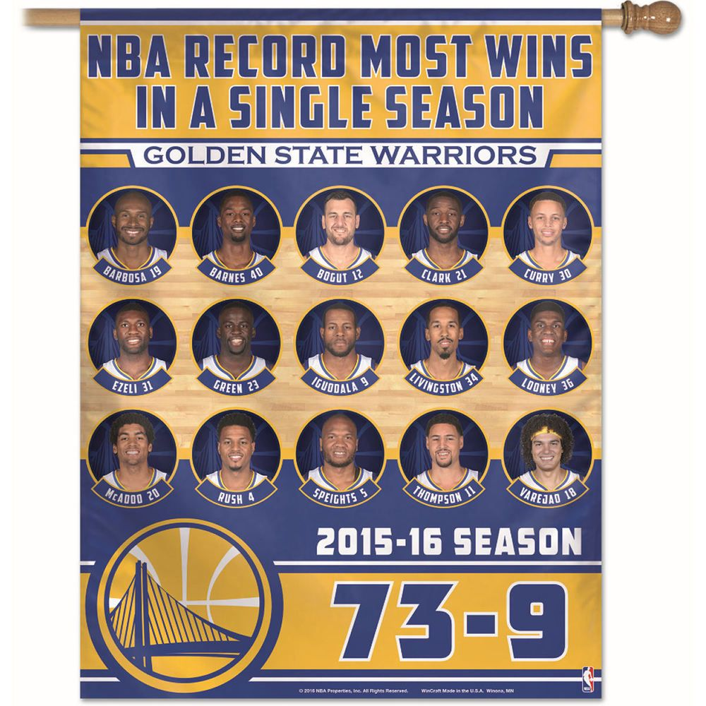 Nba Golden State Warriors Nba Record Win Season House Flag Ebay