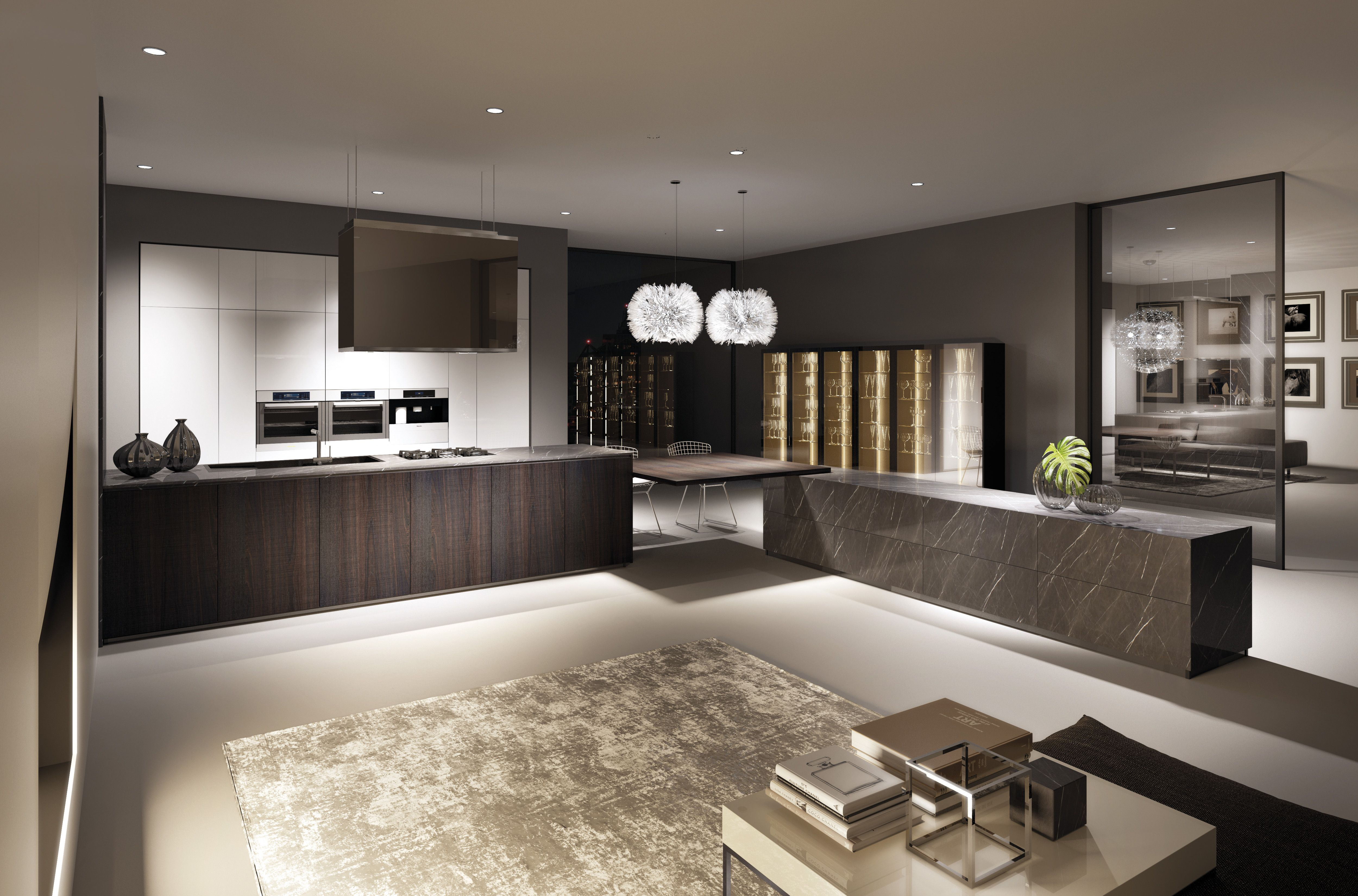 Idee Per La Cucina wooden tortona oak kitchen doors combined with glossy white