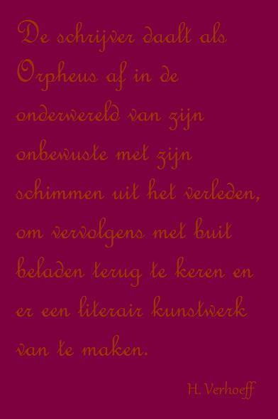 Citaten Uit Literatuur : Citaat van h. verhoeff uit de januskop van oedipus: over literatuur