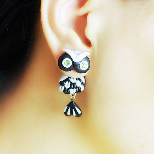 Lovely Handmade Cartoon Owl Women's Earrings,Two Kinds Of Styles