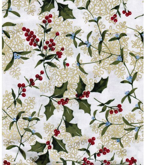 Vintage Holly Metallic Background designs Pinterest Christmas