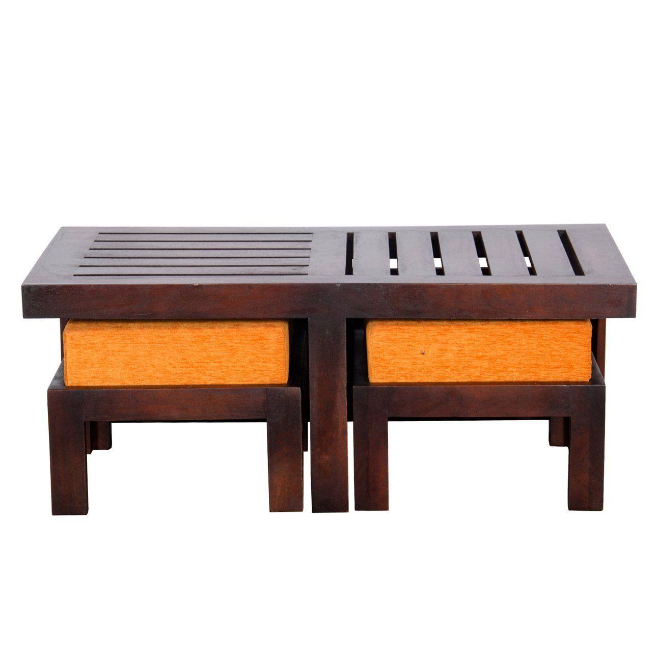 Altavista perk solid wood coffee table brownr details and