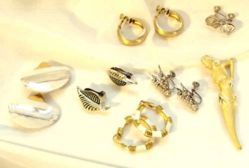 6 Pair Vintage Earrings, 1 Napier and 1 Pin