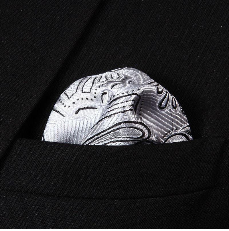 Ivory & Steel Pocket Square — www.twentydollartie.comTwenty Dollar Tie #pocketsquares