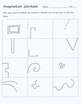 Test Draws On Doodles To Spot Signs Of >> Imagination Workout Creativity Test Drawing Sub Art Lesson Plan