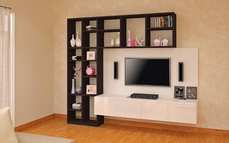 Buy petrel multifunctional entertainment unit online best for Lcd wall unit designs for hall