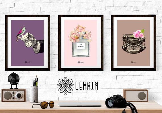 Pack 3 Prints Vintage style Vintage illustration por LehaimDesign