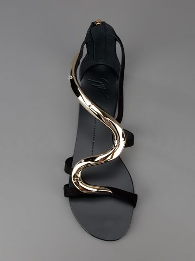 085153bdab440 Giuseppe Zanotti Snake Detailed Sandal in Black (snake) | Lyst Love these  shoes.