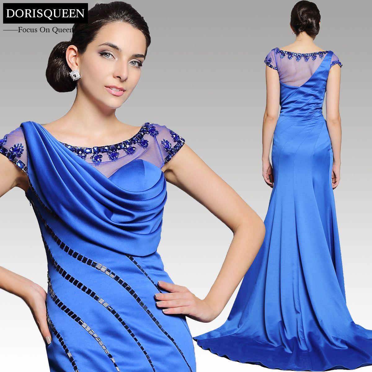 Affordable ready to wear royal blue mermaid long elegant parties