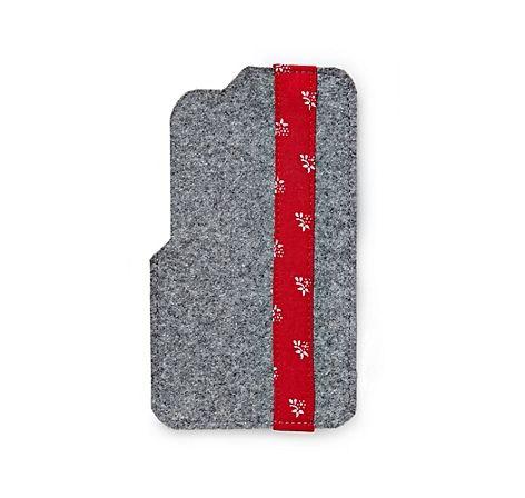 Handyhülle aus steirischem Loden und Salzburger Dirndlstoff, passend für Smartphones wie z. B. Samsung S4 & S5 – jetzt bei Servus am Marktplatz kaufen.