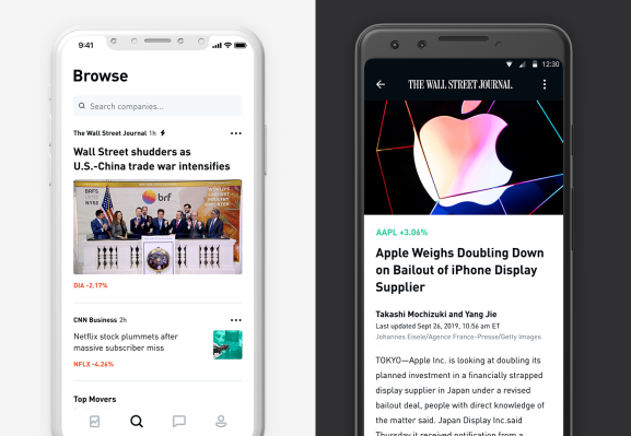 Stock trading app Robinhood revamps its newsfeed with The