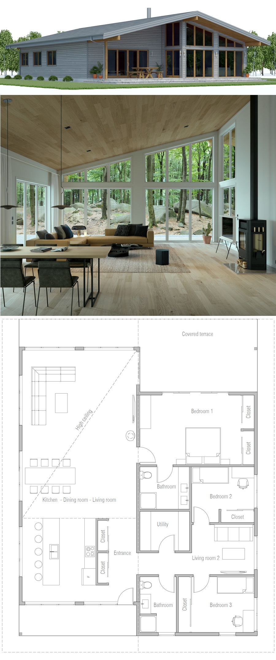 House Plan Ch588 Contemporary Architecture House House Architecture Design Architecture House