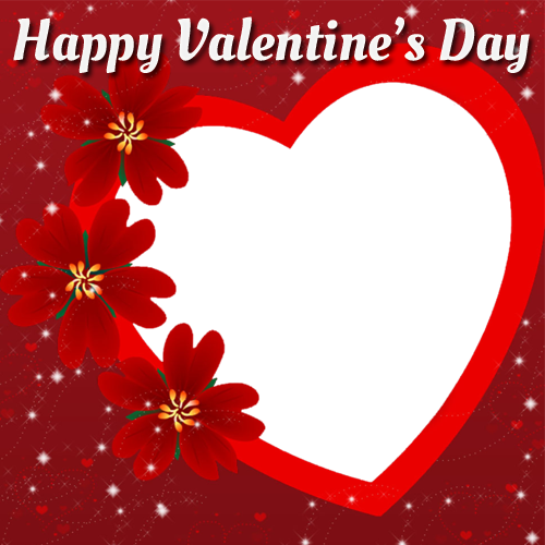 Happy Valentines Day Photo Frame With Custom Photo Generator ...