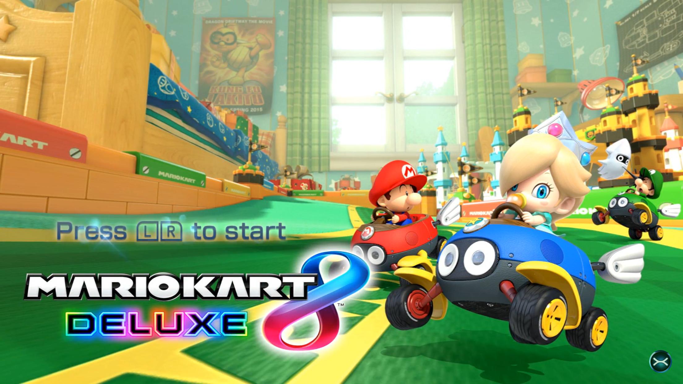 Mario Kart 8 Deluxe Title Screen Mario Kart Mario Kart 8 Mario