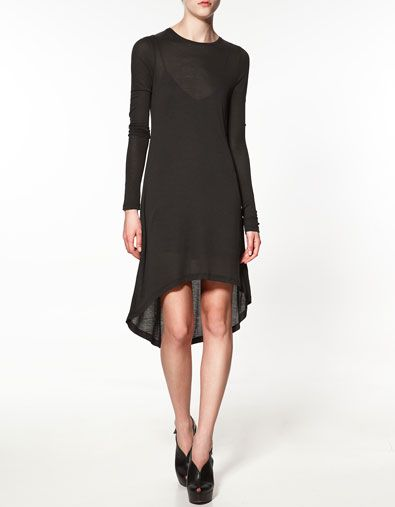 LONG-SLEEVED DRESS - Dresses - Woman - ZARA